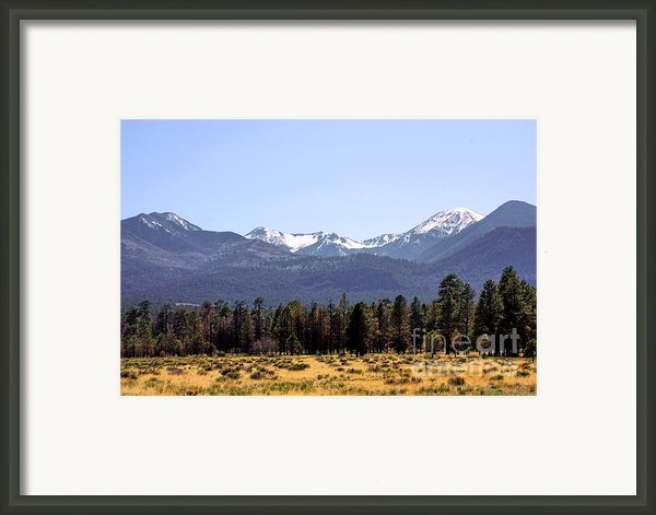 The Peaks - Where Earth Meets Heaven Framed Print By Christine Till