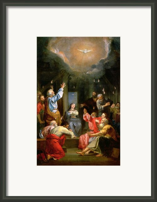 The Pentecost Framed Print By Louis Galloche
