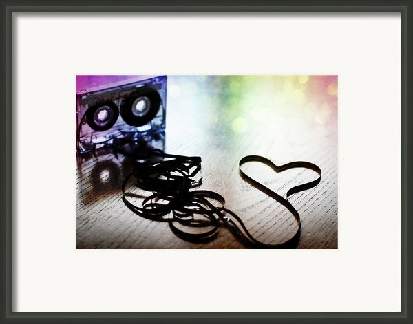 The Perfect Mix Tape Framed Print By Created By Tafari K. Stevenson-howard