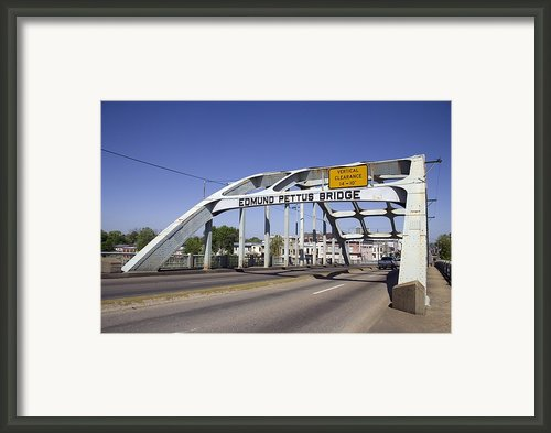 The Pettus Bridge In Selma Alabama Framed Print By Everett