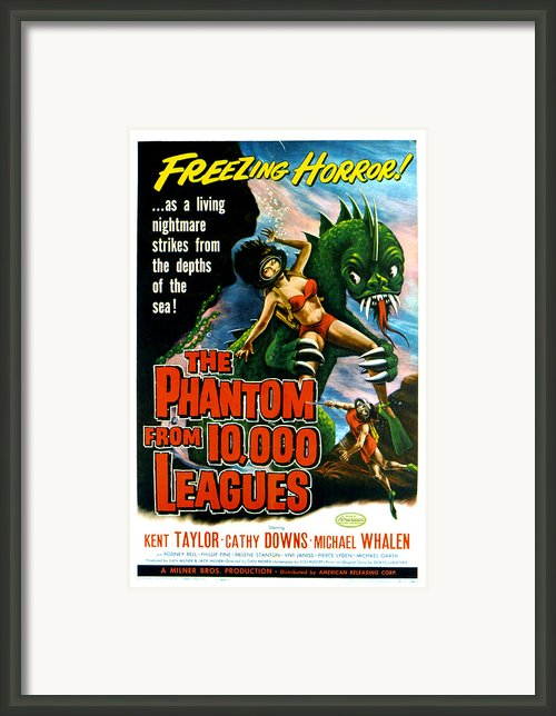 The Phantom From 10,000 Leagues, Poster Framed Print By Everett