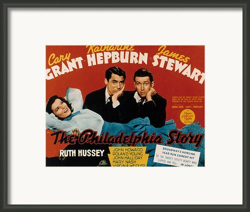 The Philadelphia Story, Katharine Framed Print By Everett