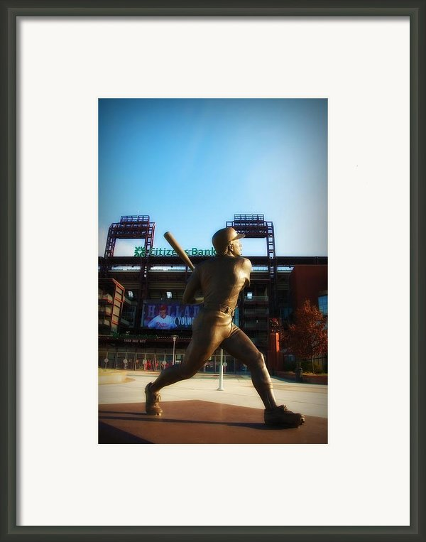 The Phillies - Mike Schmidt Framed Print By Bill Cannon
