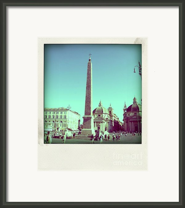 The Piazza Del Popolo. Rome Framed Print By Bernard Jaubert