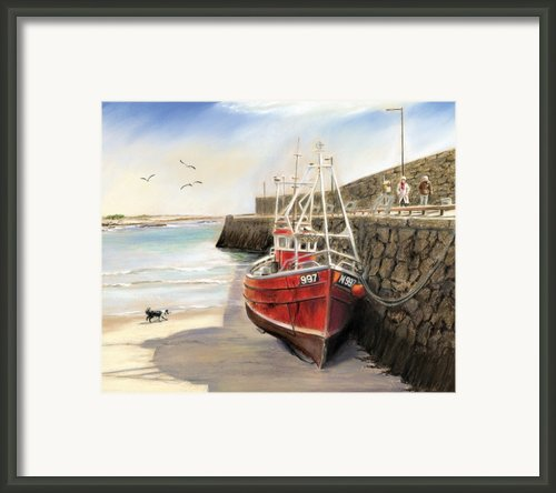 The Pier At Spiddal Galway Ireland Framed Print By Irish Art