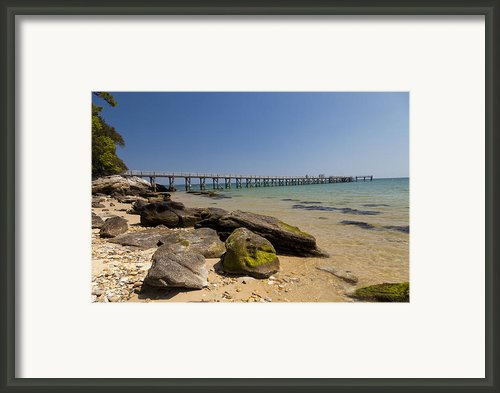 The Pier On The Sea 2 Framed Print By Stephane Grossin