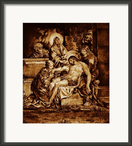 The Pieta Framed Print By Dino Muradian