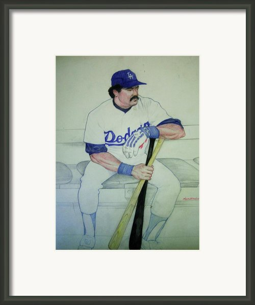 The Pinch Hitter Framed Print By Nigel Wynter