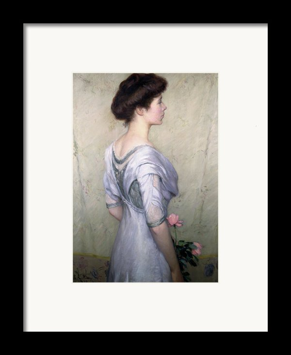 The Pink Rose Framed Print By Lilla Cabot Perry