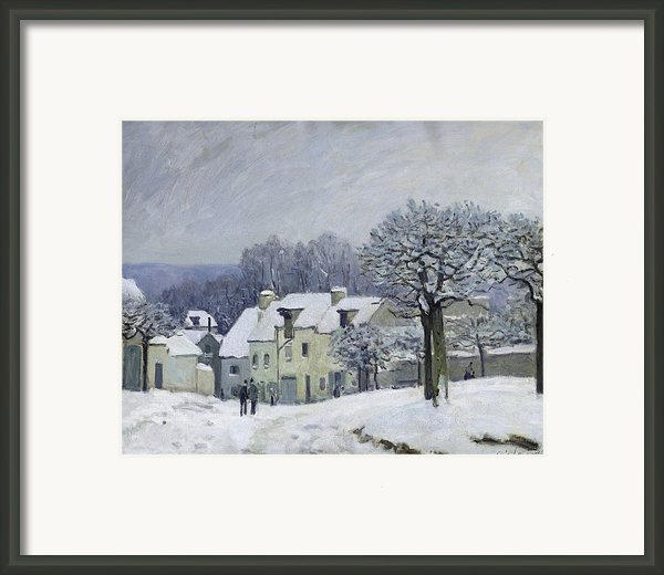 The Place Du Chenil At Marly Le Roi Framed Print By Alfred Sisley
