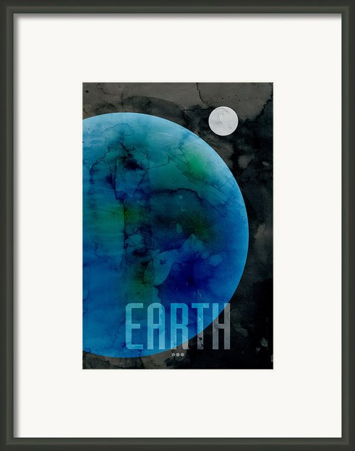 The Planet Earth Framed Print By Michael Tompsett