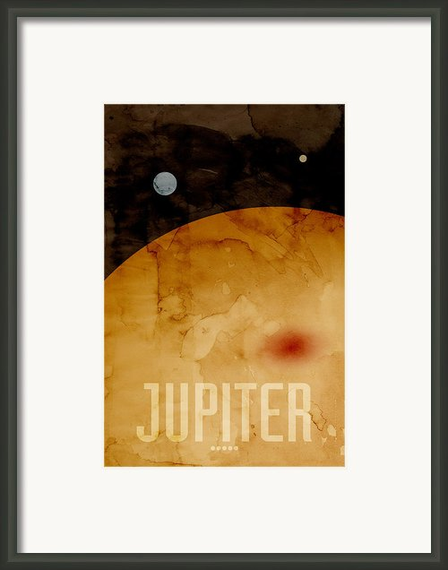 The Planet Jupiter Framed Print By Michael Tompsett