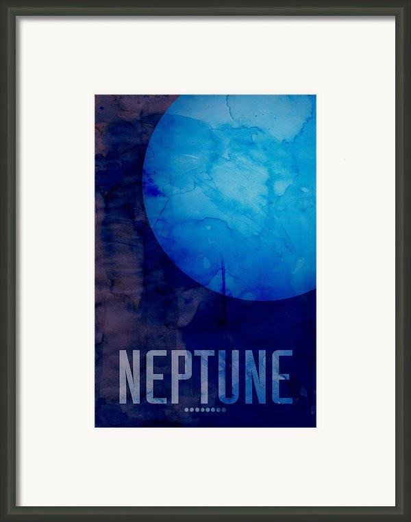 The Planet Neptune Framed Print By Michael Tompsett