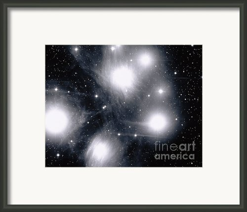 The Pleiades Star Cluster, Also Known Framed Print By Stocktrek Images
