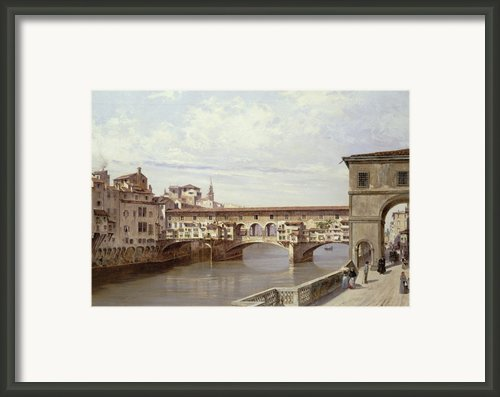 The Pontevecchio - Florence  Framed Print By Antonietta Brandeis
