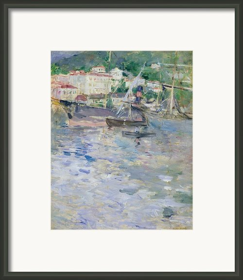 The Port At Nice Framed Print By Berthe Morisot