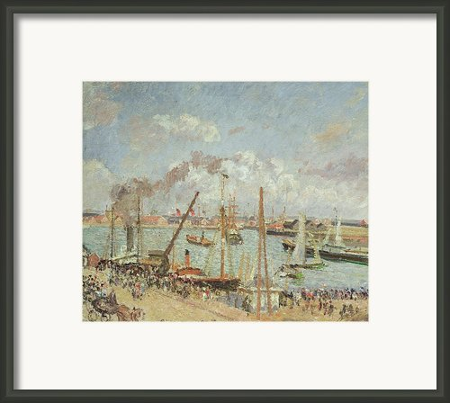 The Port Of Le Havre In The Afternoon Sun Framed Print By Camille Pissarro