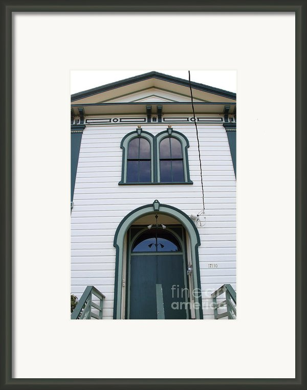 The Potter School House . Bodega Bay . Town Of Bodega . California . 7d12480 Framed Print By Wingsdomain Art And Photography