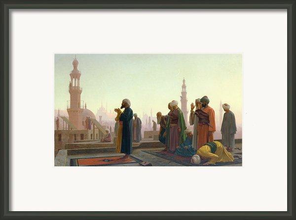 The Prayer Framed Print By Jean Leon Gerome