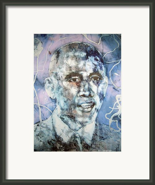 The President Barack Obama  Framed Print By Bers Grandsinge