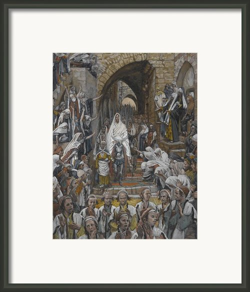 The Procession In The Streets Of Jerusalem Framed Print By Tissot