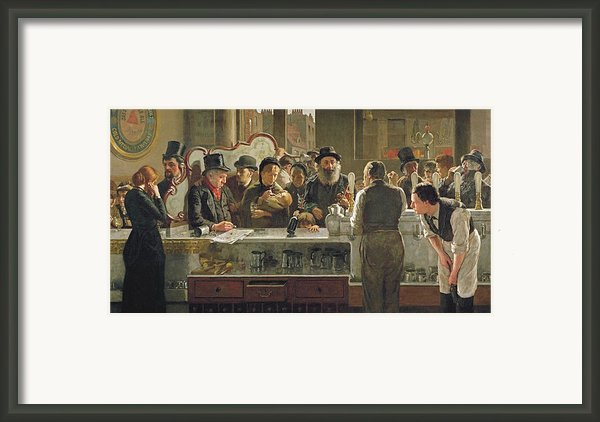 The Public Bar Framed Print By John Henry Henshall