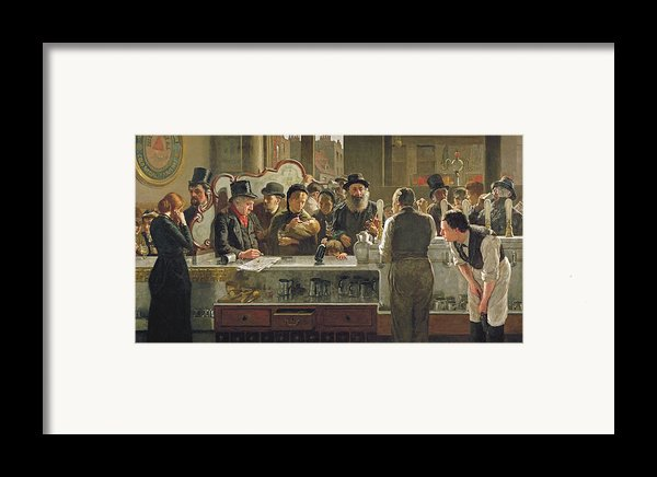 The Public Bar Framed Print By John Henry Henshall