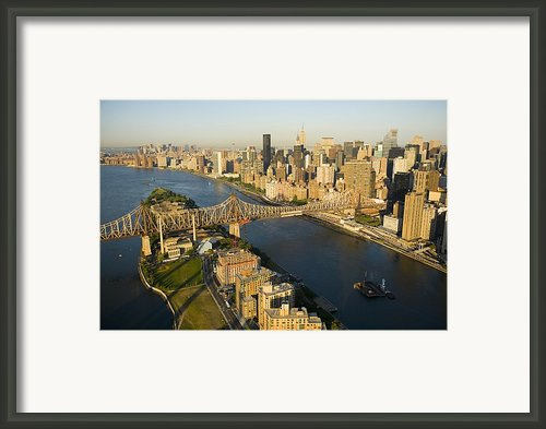 The Queensborough Bridge, Roosevelt Framed Print By Michael S. Yamashita