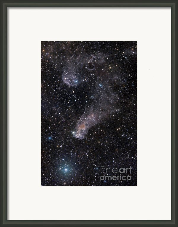 The Question Mark Nebula In Orion Framed Print By John Davis