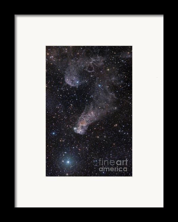The Question Mark Nebula In Orion Framed Print By John Davis