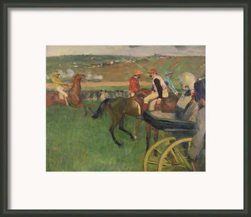 The Race Course Framed Print By Edgar Degas