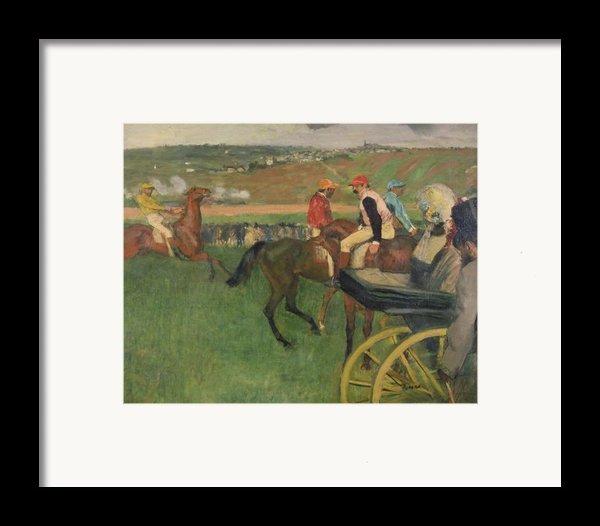 The Race Course Framed Print By Edgar Degas