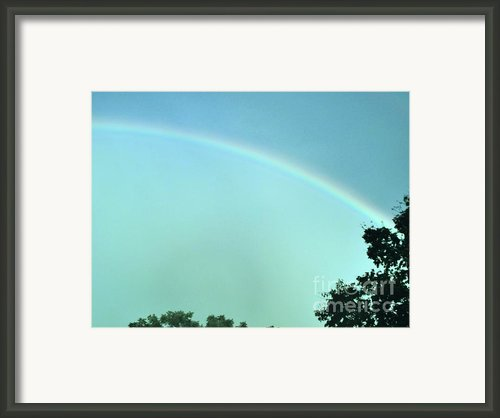 The Rainbow Is A Sign Framed Print By Marsha Heiken