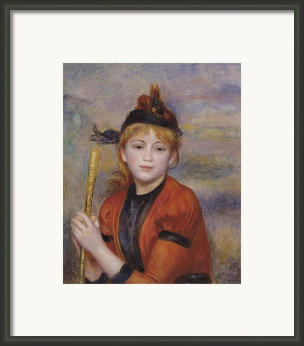 The Rambler Framed Print By Pierre Auguste Renoir