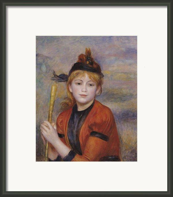 The Rambler Framed Print By Pierre Auguste Renoir