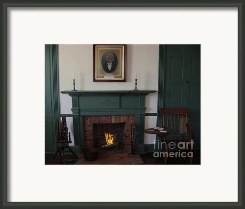 The Rankin Home Fireplace Framed Print By Charles Robinson