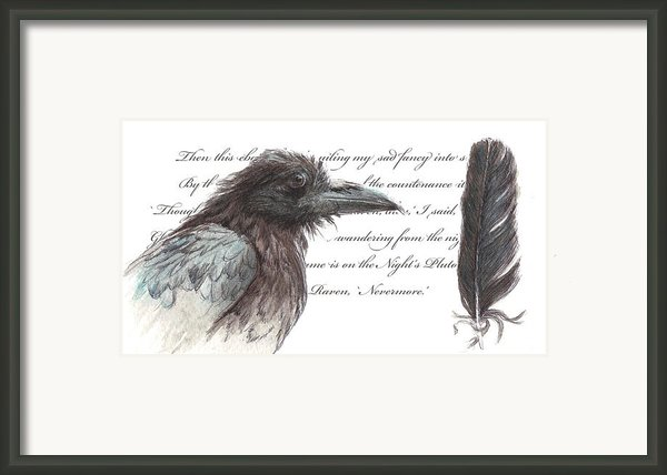 The Raven Framed Print By Tahirih Goffic