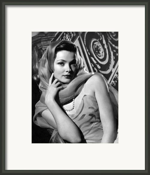 The Razors Edge, Gene Tierney, 1946 Framed Print By Everett