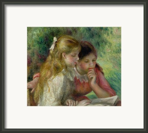 The Reading Framed Print By Pierre Auguste Renoir