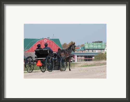 The Red Barn Framed Print By Lisa  Difruscio