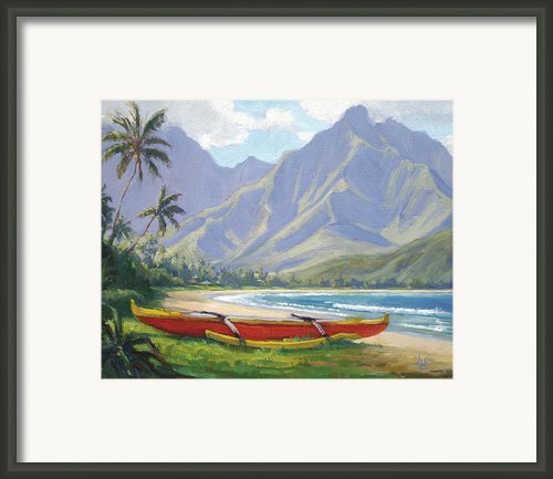 The Red Canoe Framed Print By Jenifer Prince
