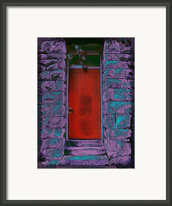 The Red Door Framed Print By Tim Allen