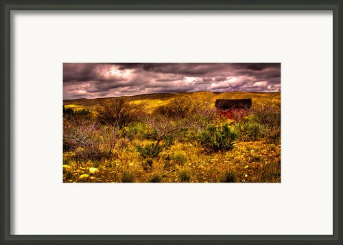 The Red Shed At Red Rock Canyon Framed Print By David Patterson