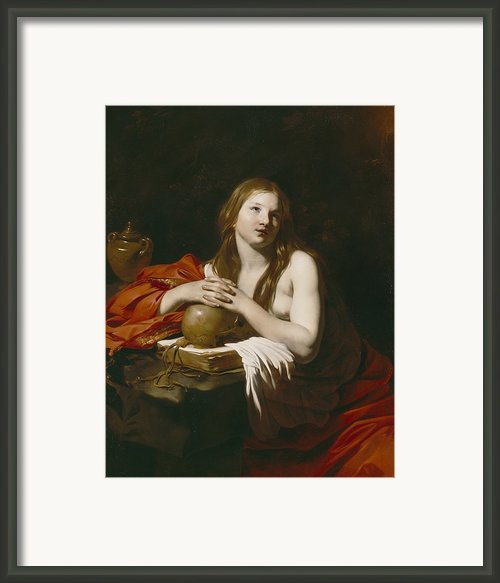 The Repentant Magdalene Framed Print By Nicolas Regnier