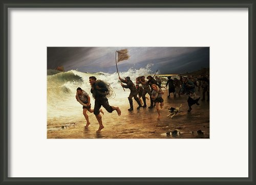 The Rescue Framed Print By Maurice Poirson