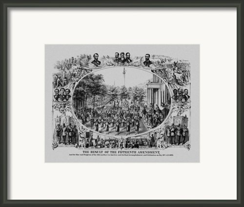The Result Of The Fifteenth Amendment Framed Print By War Is Hell Store