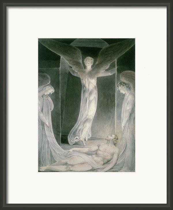 The Resurrection Framed Print By William Blake