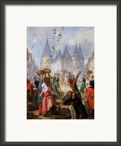 The Return Of Saint Louis Blanche Of Castille To Notre Dame Paris Framed Print By Pierre Charles Marquis