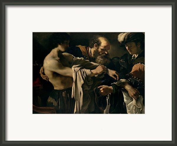 The Return Of The Prodigal Son Framed Print By Giovanni Francesco Barbieri