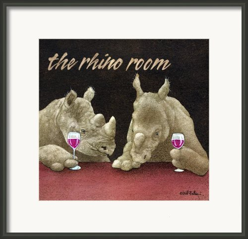 The Rhino Room... Framed Print By Will Bullas